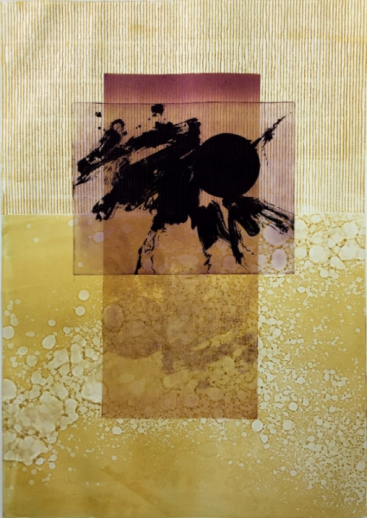 "Virgina Furmanski, ""Zen III"", monoprint --- People's Choice First Place, Santa Barbara Printmakers Fall Exhibition"